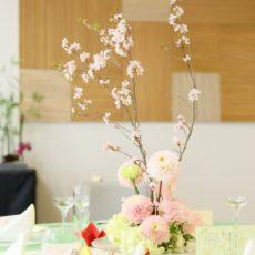 しあわせの間装花桜